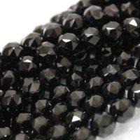 連 チベット産モリオン(黒水晶) スターカット 10mm  品番: 4265