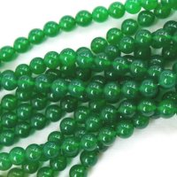連 グリーンアゲート(草緑)  丸 10mm    品番: 4019
