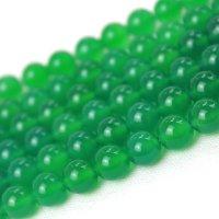 連 グリーンアゲート(草緑)  丸  4mm    品番: 4016